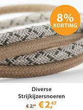 Strijkijzersnoeren linnen classic green en vintage cotton