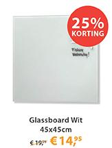 Glassboard Wit 45x45cm