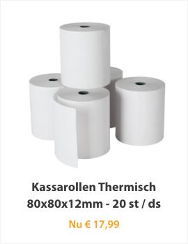 Kassarollen Thermisch 80x80x12mm 50 st/ds