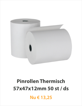 Pinrollen Thermisch 57x47x12mm 50 st/ds