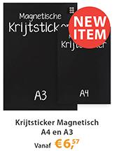Krijtsticker Magnetisch A4 en A3