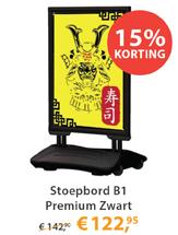 Stoepbord B1 Premium Zwart