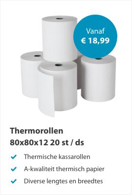 Thermorollen 80x80x12mm 20stuks