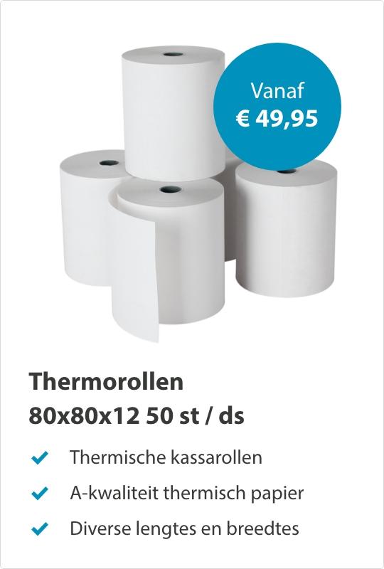 Thermorollen 80x80x12mm 50stuks