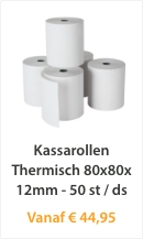 Kassarollen Thermisch 80x80x12mm 50 st/ds