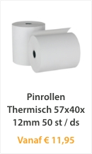 Pinrollen Thermisch 57x40x12mm 50 st/ds